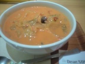 カキときのこのトマトクリームスープ.JPG